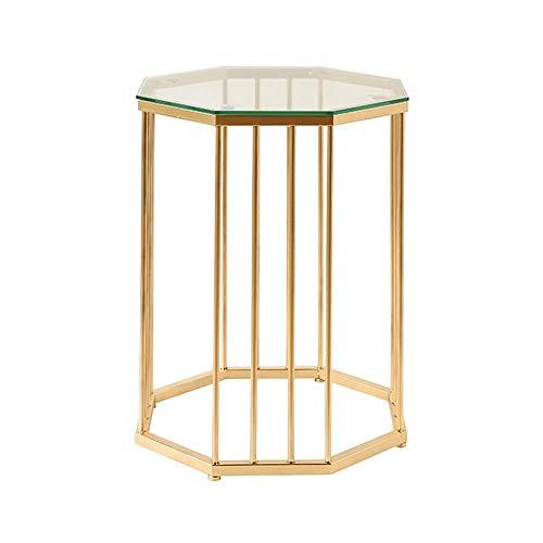 Home Beistelltische Nordic Moderne Wohnzimmer Einfache Sofa Ecke Mehrere Kreative Glas Schmiedeeisen Couchtisch Achteckige Gold Kleinen Beistelltisch, BOSS LV