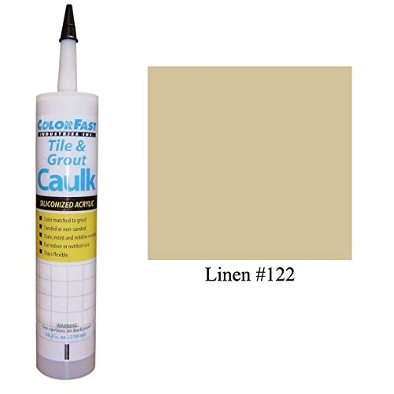 Color Fast Caulk Matched to Custom Building Products (Linen Sanded)