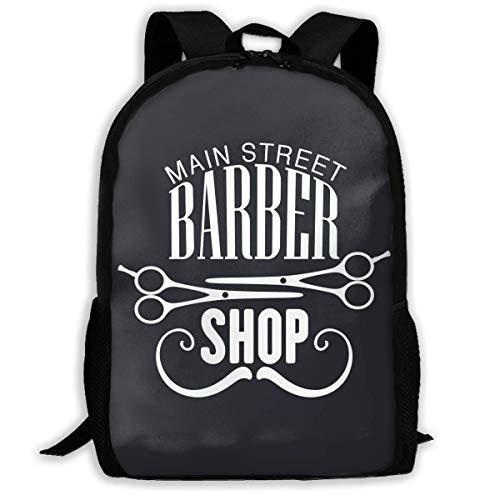 QIAOJIE Main Street Barber Shop Mochila Deportiva para Adult