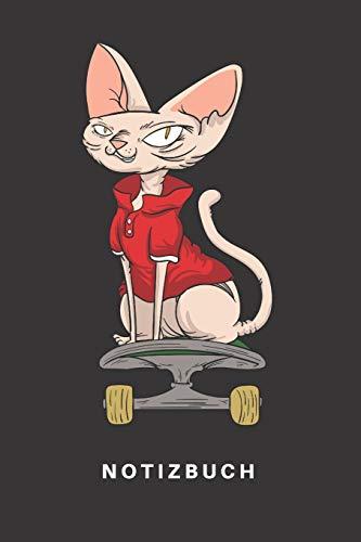 Notizbuch: Notizbuch | Notizheft | Schreibbuch | 110 Seiten | Karo | Kariert | Karos | DIN A5 | Katze | Katzen | Kitten | Katzenhalter | ... Rex | Skateboard | Skateboarding | Boarder