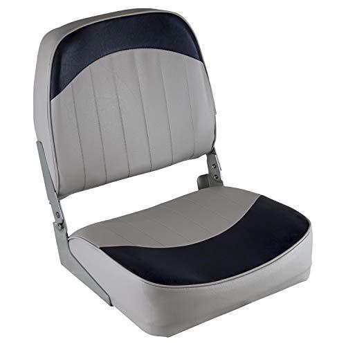 Wise 8WD734PLS-660 Low Back Boat Seat, Grey/Blue