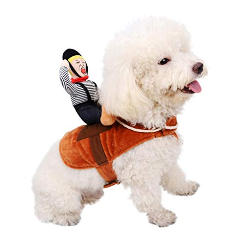 Shiningbaby Costume Cosplay per Animali Domestici Cavalieri Costume per Cani Vestiti da Festival in Stile Cavaliere Spesso e Spessi per Cani di Taglia Medio-Piccola