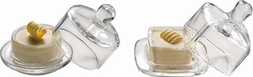 APS 15925 Glas ButterSchale Ø 9 x 9 cm, Rund