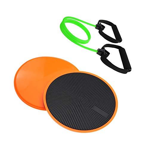 LJBOZ Core Sliders, en Pisos de Madera Dura de Alfombra, Core Fitness Exercise Sliders Fitness,Strength Training, Muscle Toning, Bolsa de Almacenamiento de Anclaje de Puerta incluida25LB-Orange