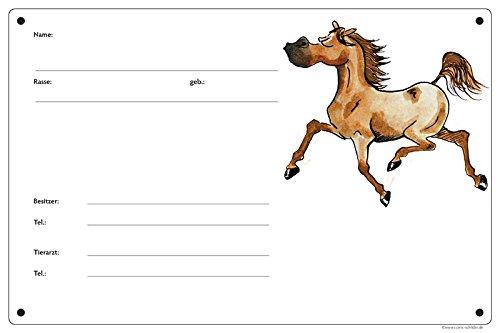 Boxenschild/Stalltafel Angeber (Vollblut/Araber/Warmblut/Pony) Fuchs