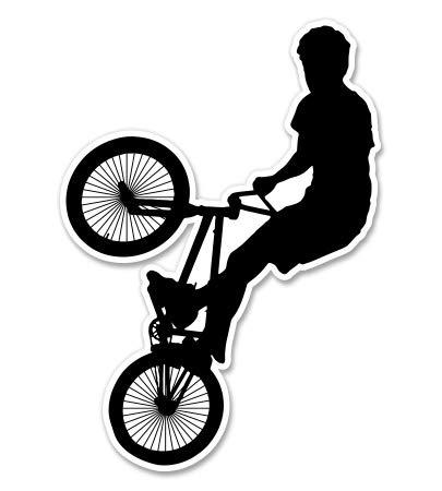"GT Graphics BMX Biker - 12"" Vinyl Sticker Waterproof Decal -  601844513604"