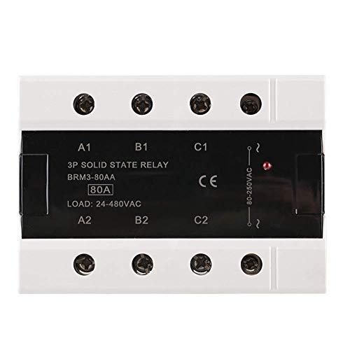 CENPEN Relé de Estado sólido, Seguro y Estable de Carga trifásico de 24-480VAC Sello relé de Estado sólido 80AA / 120aa con protección de Seguridad (BRM3-80AA)