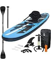 ECD Germany Opblaasbare Stand Up Paddle Board Kayak Zitplaats   305 x 78 x 15 cm   Blauw   PVC   tot 120 kg   incl. pompdraagtas Accessoires   SUP Board Paddleboard Surfboardzitting Functie