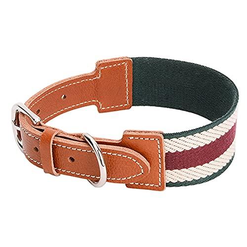 LCYY Collar de Perro, Cuero Suave, Agradable para la Piel y Suave, Diseño clásico con Hebilla, Fácil de Ajustar