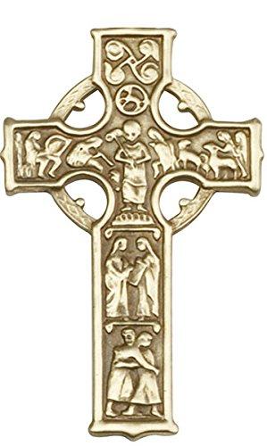 F A Dumont Antique Gold Celtic Cross Visor Clip