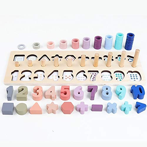 Hanks sklep przedszkolny drewniany liczba geometryczny kształt poznanie dopasowanie dziecko wczesna edukacja pomoce naukowe zabawki matematyczne.