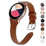 [page_title]-KIMILAR Armband Kompatibel mit Samsung Galaxy Watch 42mm/Galaxy Watch Active/Active 2 (40mm/44mm) Leder Armbänder für Gear Sport, Garmin Vivoactive 3/Forerunner 645/245, Vivomove, Huawei Watch GT 2