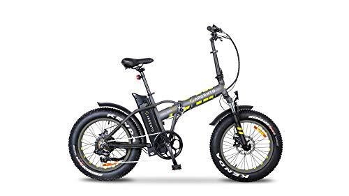 Argento Mini MAX+ - Bicicleta Unisex para Adultos, Color Plateado, Talla única