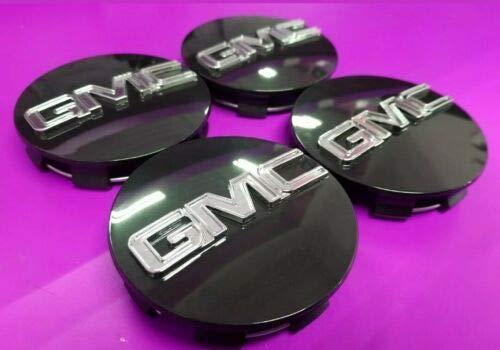 GMC Black CENTER CAP Yukon Denali Sierra 3.25' 83mm 18 20 22 Wheel 9595759 4pc