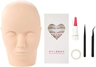 Training Mannequin Head, Cosmetology Mannequin Doll Face Head Eyelashes Makeup Mannequin Head Eyelash Make Up Practice Too...