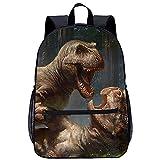 WBLWBL Mochila unisex con bandolera para hombro, mochila de dinosaurio, 31 * 14 * 45 cm, divertida bolsa preescolar ligera personalizada impresa para niños, niñas, niños