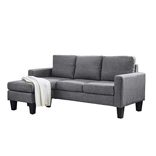 HTI-Line Ecksofa Ottomane Links Reva Ecksofa Polsterecke Polstergarnitur Couch Couchgarnitur Ottomane Sitzgelegenheit