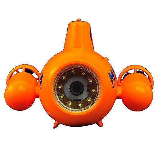 YAOHM Drone subacuático Mini RC Submarino 5.8G HD 2.4G Control Remoto Cámara Impermeable ISO y Sistema Android FPV