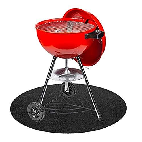 BBQ Grill Splatter Mat Bodenschutzmatte Grillschutzmatte, Feuerfest Hitzebeständig Feuerfeste Unterlage Für Den Garten, Runde Wiederverwendbar (68CM x 68CM)
