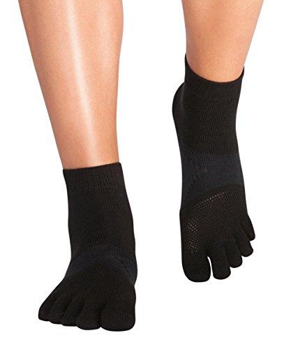 Knitido Running TS   Tobilleros de dedos para deporte y carrera, Talla:43-46, Color:negro (101)