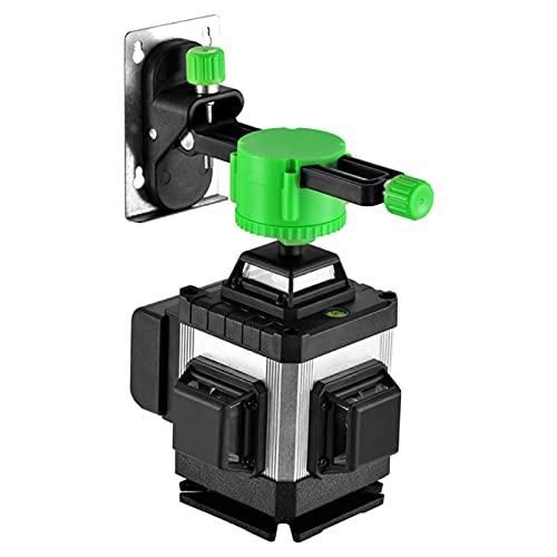 SXTYRL Nivel láser, Verde Línea, Líneas Láser, Multifuncional Autonivelación, Línea De Rayo láser, Usado para Interiores, Recargable, Batería (Color : Black)