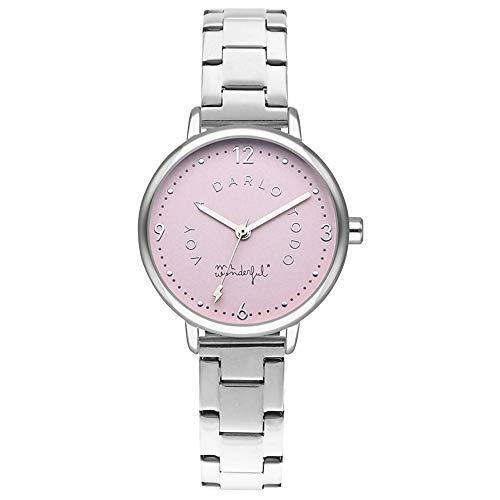 Mr wonderful Shine and Smile Reloj para Mujer Analógico de Cuarzo con Brazalete de Acero Inoxidable WR15100
