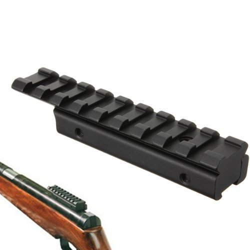 BESTSUN Dovetail Weaver Picatinny Rails Adapter Extend 11mm to 20mm Tactical Scope Mount