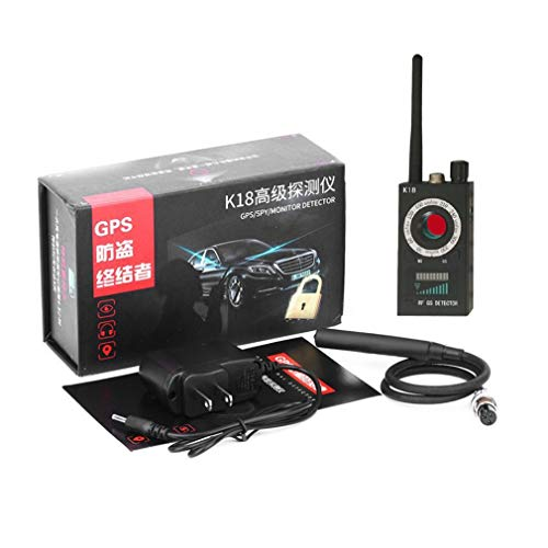 gfjfghfjfh K18 Anti-Espionaje Anti-Sneak Shot Detector GPS inalámbrico Detector de Errores de Audio Detector inalámbrico de 1MHz a 6.5GHz
