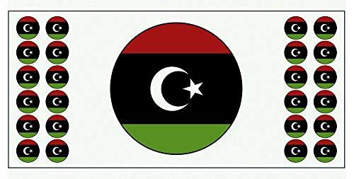 Libyen-Flagge – Poster – Party-Dekoration – Feier – Event – Weltmeisterschaft (2 Stück)