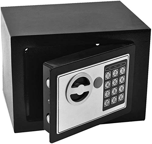 Durable Digital Electronic Safe Box Keypad Lock Home Office Hotel Gun Black