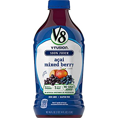 V8 Acai Mixed Berry, 46 Fl Oz (Pack of 6)