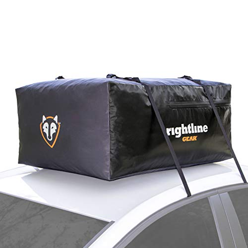 Rightline Gear Sport Jr Car Top Carrier, 10 cu ft Sized for Compact Cars, 100% Waterproof Zipper, Attaches With or Without Roof Rack, 100S50