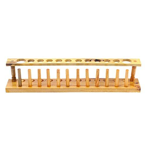 UKCOCO Holz 12 Vents Labor Reagenzglas Rack Halter Rohrständer