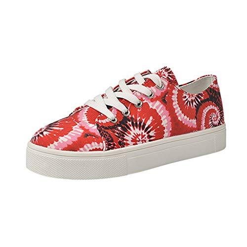 Routinfly - Zapatos para mujer Tie Dye de moda, cómodos, estilo europeo y americano, tallas extragrandes