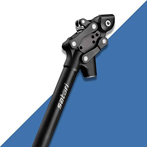 Tija de sillín con suspensión, tija de sillín con suspensión para Bicicleta eléctrica, MTB, Bicicleta Urbana (27,2 mm x 350 mm) (30.9mm)