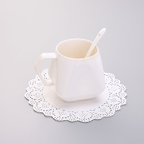 eBoot 36 Pieces White Lace Paper Doily Cake Packaging Paper Pad, 6.5 Inch, 8.5 Inch, 10.5 Inch