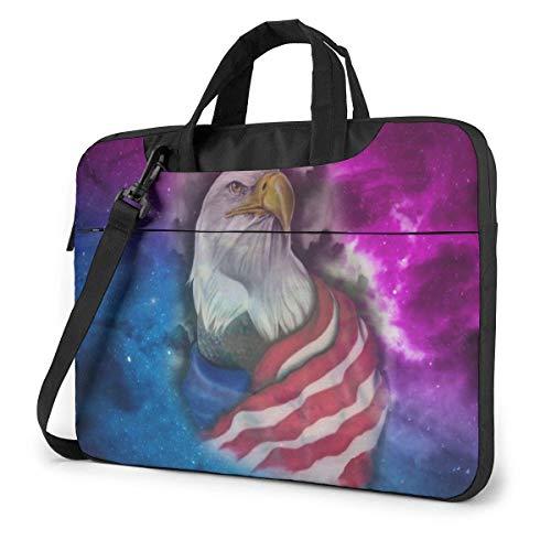 Galaxy USA Flag Eagle Funda Protectora Impermeable para portátil con Correa