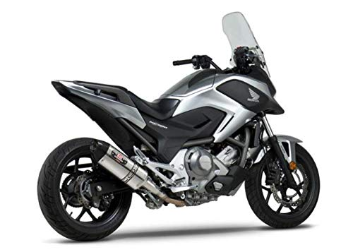 Yoshimura R-77 Slip-On Exhaust (Street/Stainless Steel with Carbon Fiber End Cap) for 12-15 Honda NC700X