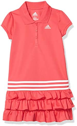 adidas Girls Little Active Polo Dress Fresh Pink 6 product image