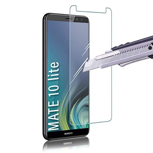 Shalwinn 2 Stück Panzerglas Schutzfolie für Huawei Mate 10 lite, Frei von Kratzern Fingabdrücken und Öl, HD Panzerglasfolie, 9H Härte, 0.33mm Ultra-klar Displayschutzfolie