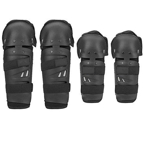 FX ValmoniSport Rodilleras x 2 Coderas x 2 para Motorista, Protección en la Moto, Motocicleta
