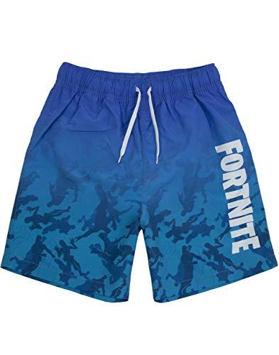 Fortnite Shorts de baño niños   Bañador Gamer Azul Claro u Oscuro (7-8 Anni)