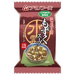 アマノフーズ フリーズドライ 化学調味料無添加 もずくスープ 10食×6箱入×(2ケース)