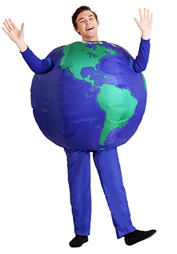 Planet Earth Inflatable Costume for Adults, Globe Costume Earth Day Standard Blue