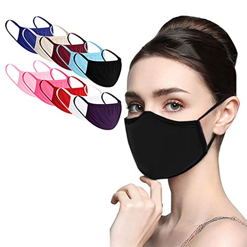 10Pcs Reusable and Breathable, Face Bandanas, Indoors and Outdoors, Anti-Haze Dust for Adults, Multicolor