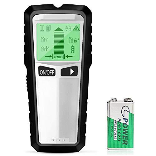 LEHOUR Ortungsgerät, 5 in 1 Multifunktions Wand Scanner Detektor Digitales Stud Finder für Metall, Rohre, Holz und AC Draht