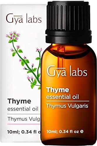 Olio essenziale di timo - Alito fresco di sollievo calmante per difficoltà respiratorie (10 ml) - Olio di timo di grado terapeutico puro al 100%