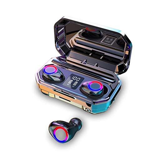 GKJ Auriculares inalámbricos Bluetooth M12 Auriculares inalámbricos Bluetooth 5.0 Modo Privado táctil TWS Auriculares con reducción de Ruido Binaural Sports In-Ear,Negro
