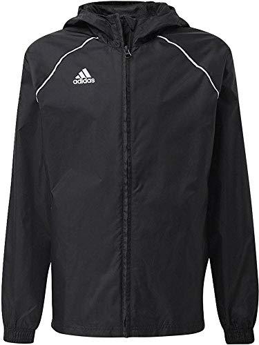 adidas Unisex Kinder Core18 Rn Jkt Y Sport Jacket, Schwarz/Weiß, 10 Jahre EU