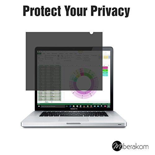 miberakom Privacy Screen Filter/privacy filter/privacy film/privacy film/screen protector voor notebooks, laptops en monitoren 15,6 inch (Widescreen 16:9) 345mm x 195mm
